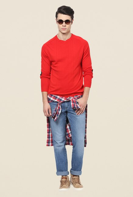 Yepme Red Ramon Sweater