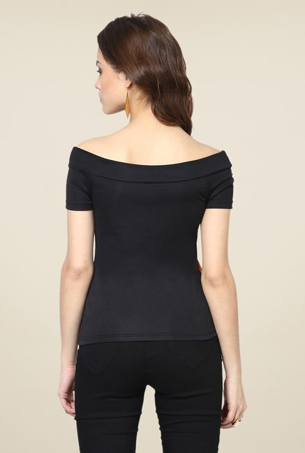 Yepme Black Elsie Party Top