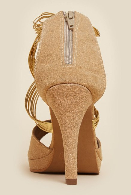 Inc.5 Beige Gladiator Stilettos