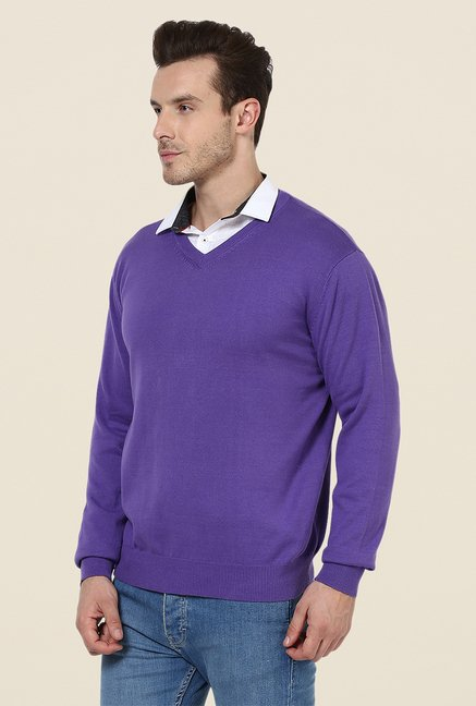Yepme Purple Braxton Sweater
