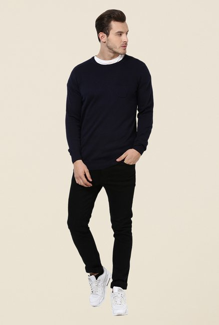 Yepme Navy Craig Sweater