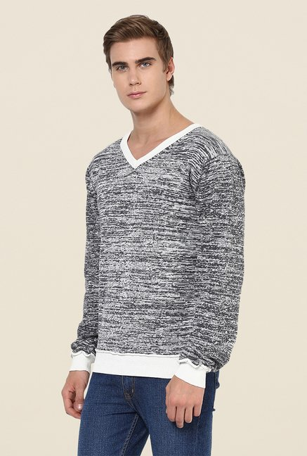 Yepme Grey & White Erick Sweater