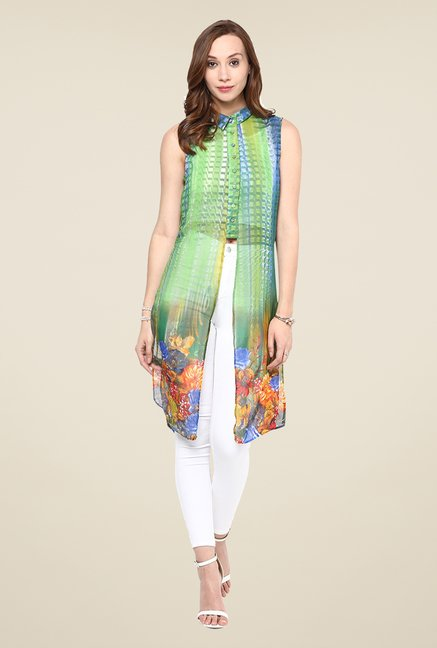 Yepme Green Printed Tunic