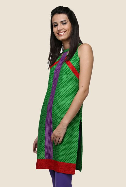 Yepme Ashley Green Halter Neck Kurti