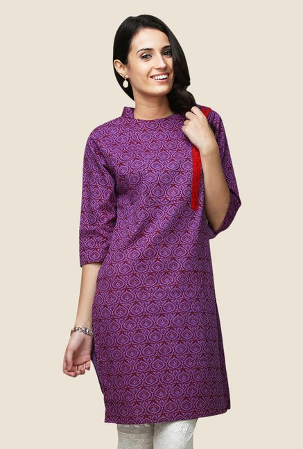 Yepme Betty Purple Flap Kurti