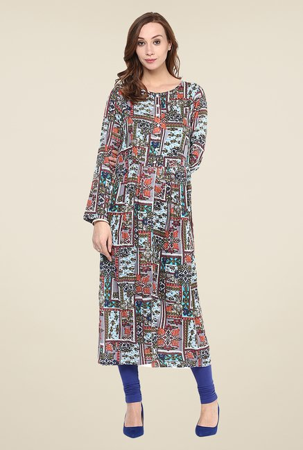 Yepme Multicolor Long Patch Printed Kurti