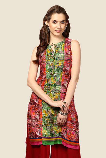 Yepme Red Caryn Tie-up Kurti