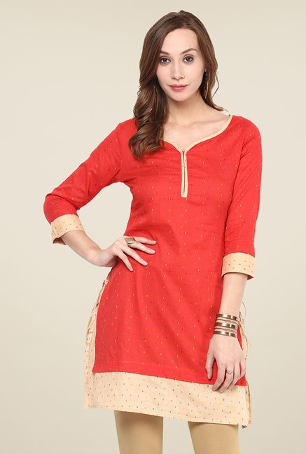 Yepme Orange Printed Kurti