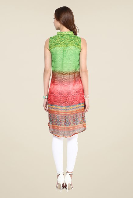 Yepme Multicolor Printed Front Slit Tunic