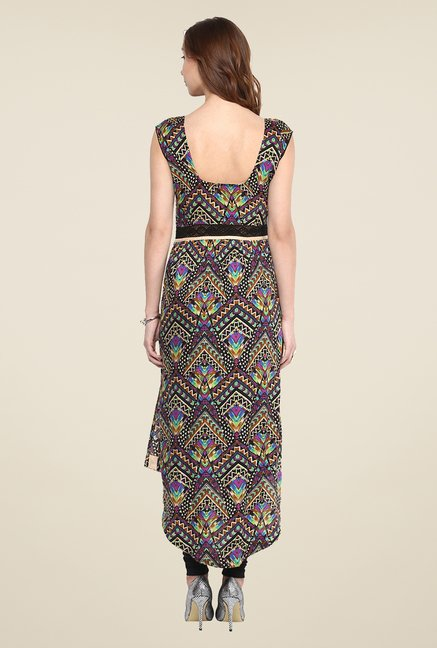 Yepme Multicolor Tribal Print Premium V-neck Kurti