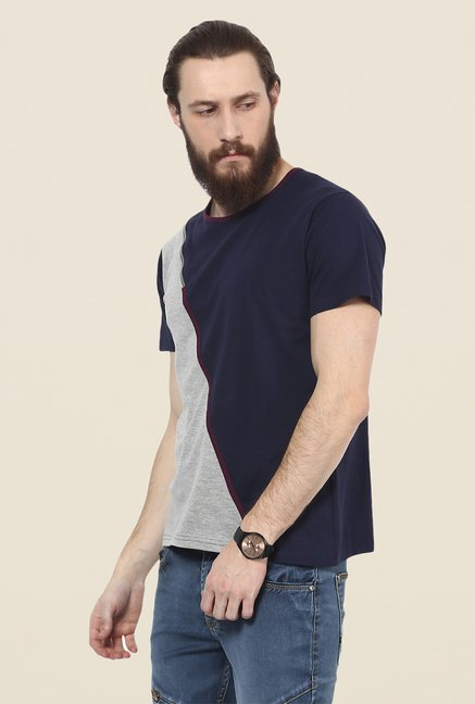 Yepme Navy & Grey Corin T Shirt