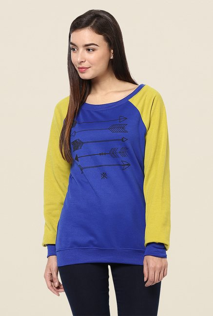 Yepme Dory Blue & Green Sweatshirt
