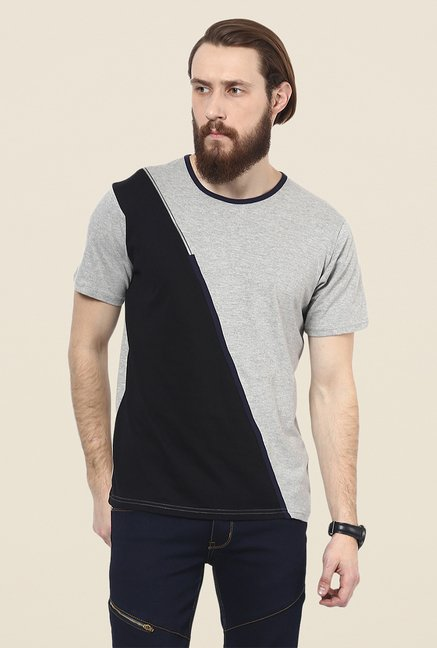 Yepme Grey & Black Corin T Shirt