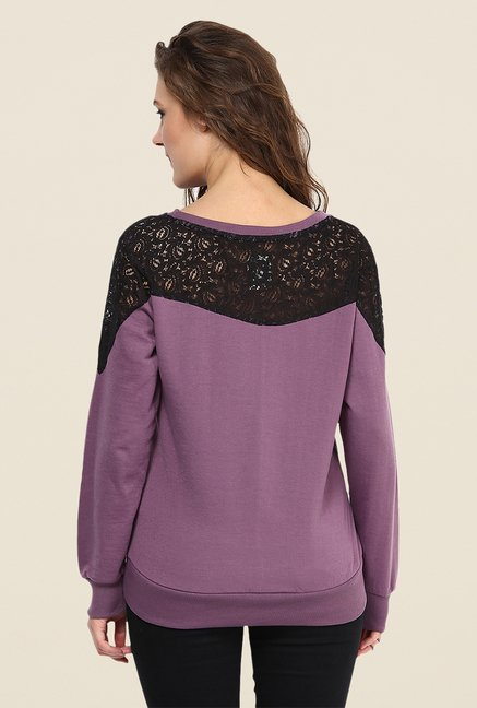 Yepme Jess Purple Lace Sweatshirt