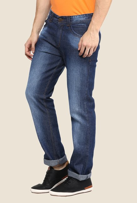 Yepme Dark Blue Lightly Washed Jeans