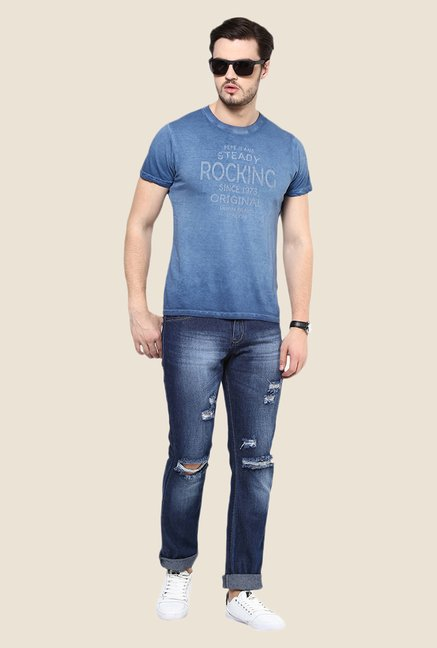 Yepme Dark Blue Tattered Jeans