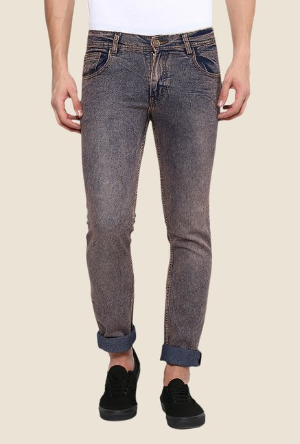 Yepme Grey Wagner Rinse Washed Jeans