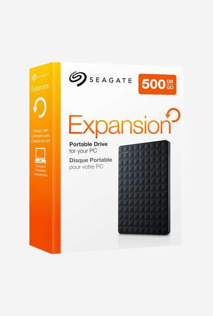 Seagate 500 GB External Hard Disk (Black)