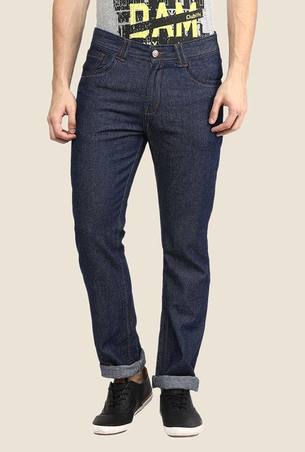 Yepme Navy Roland Rinse Washed Jeans