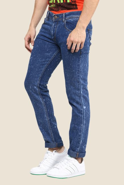 Yepme Blue Solid Jeans