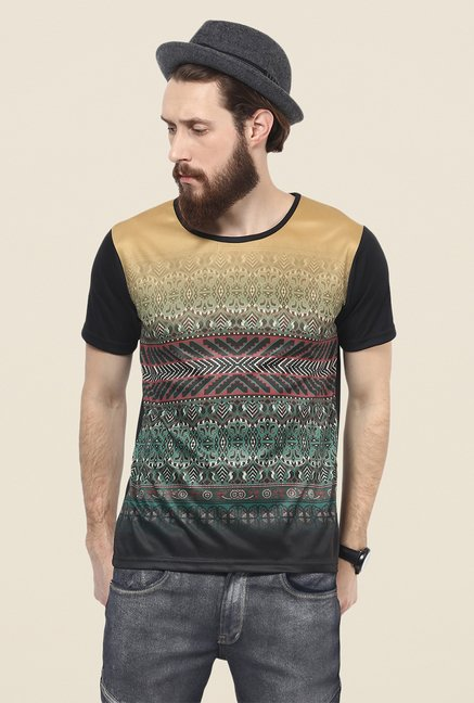 Yepme Multicolor Folk Graphic Print T Shirt