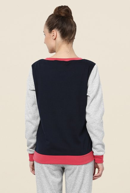 Yepme Lara Navy & Grey Sweatshirt