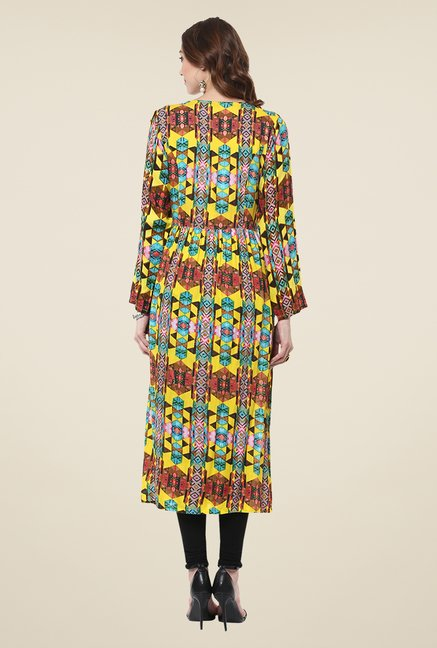 Yepme Multicolor Long Printed Full-sleeved Kurti