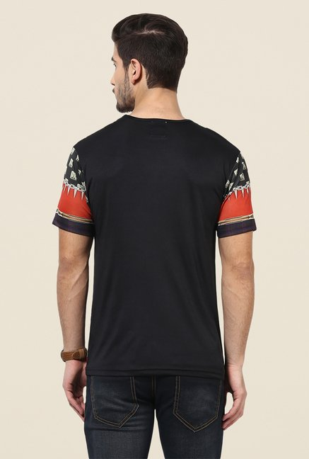 Yepme Multicolor Goth Graphic Print T Shirt