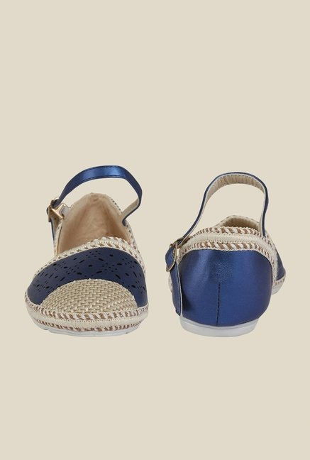 Cocoon Blue & Beige Ankle Strap D'orsay Sandals