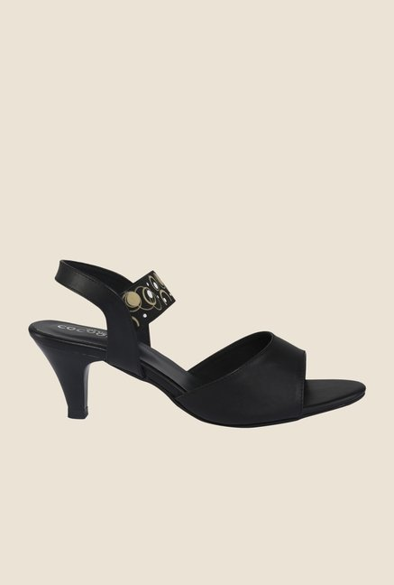 Cocoon Black Sling Back Sandals