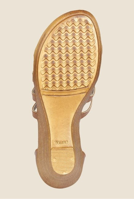 Cocoon Tan Wedge Heeled Sandals