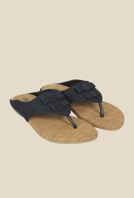 Cocoon Black Thong Sandals