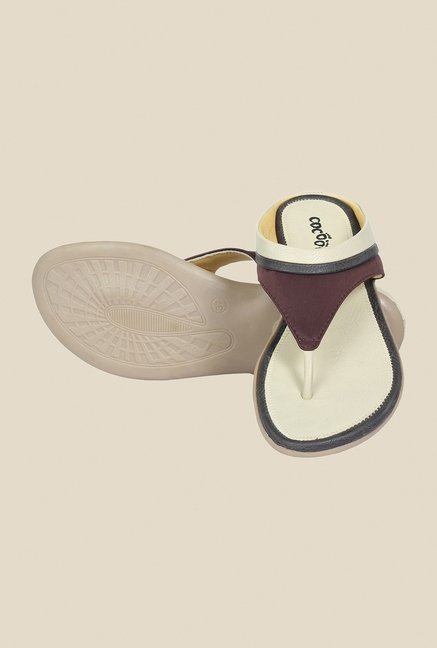 Cocoon Beige & Brown Thong Sandals