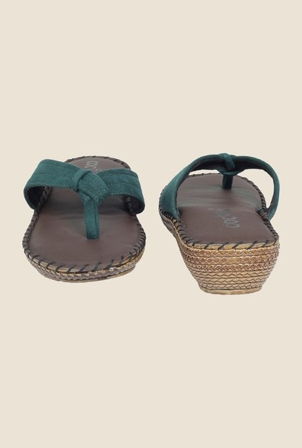 Cocoon Green Thong Sandals