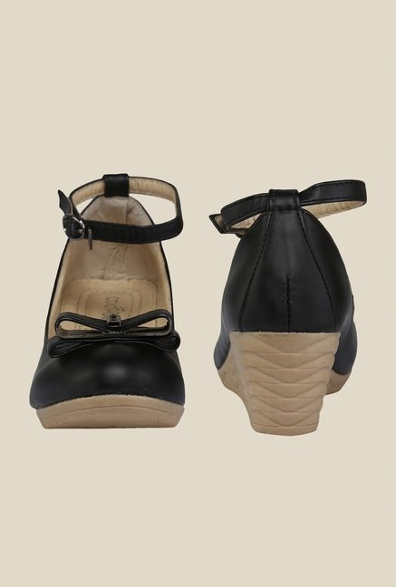 Cocoon Black Ankle Strap Pumps