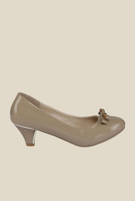 Cocoon Beige Kitten Heeled Pumps