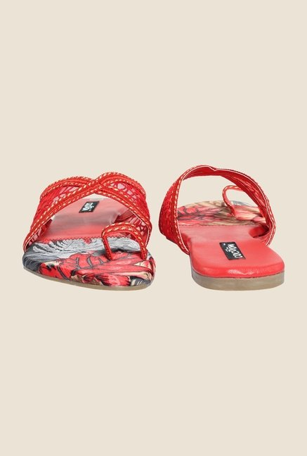 Cocoon Red Toe Ring Sandals