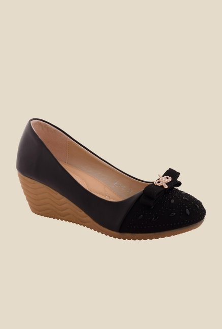 Cocoon Black Wedge Heeled Pumps