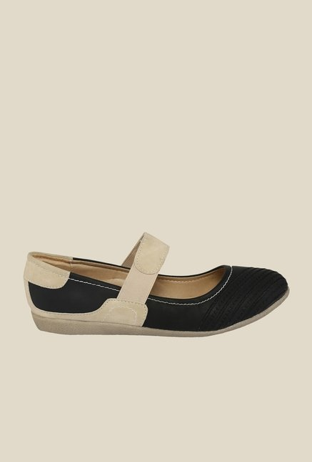 Cocoon Black & Beige Mary Jane Shoes