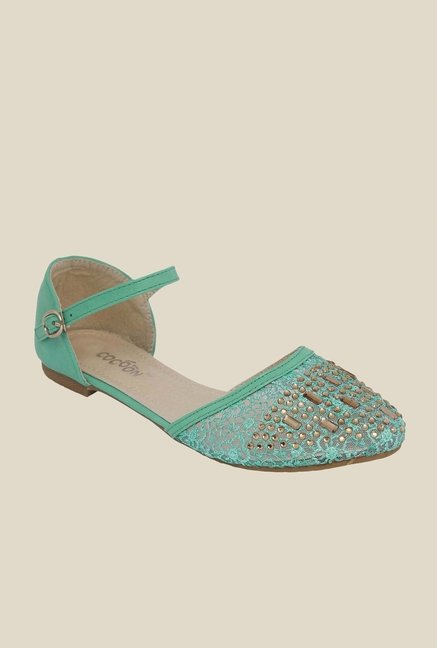Cocoon Green Ankle Strap D'orsay Sandals