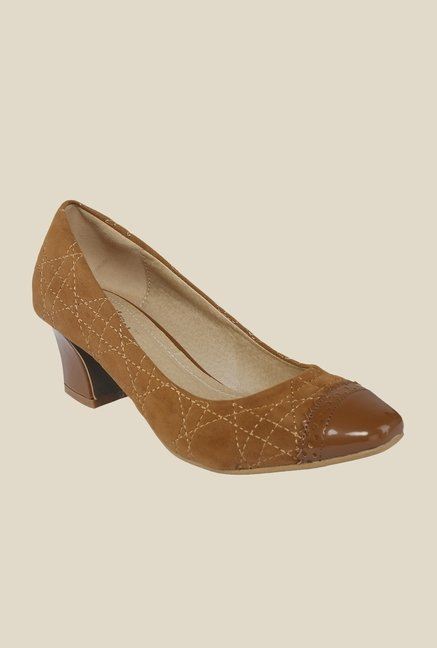 Cocoon Brown Block Heeled Pumps