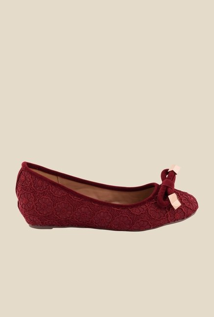 Cocoon Maroon Wedge Heeled Pumps