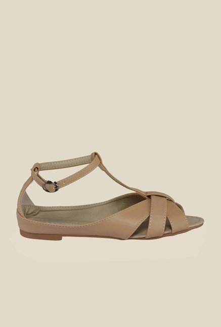 Cocoon Beige Ankle Strap Sandals