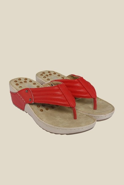Cocoon Red Wedge Heeled Sandals