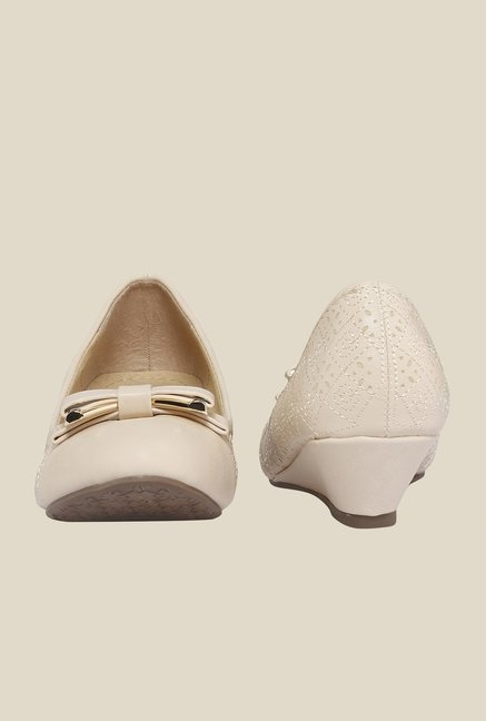 Cocoon Beige Wedge Heeled Pumps