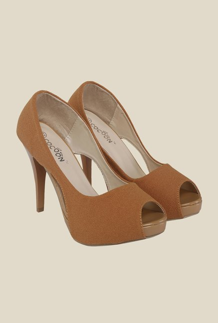 Cocoon Brown Peeptoe Stilettos