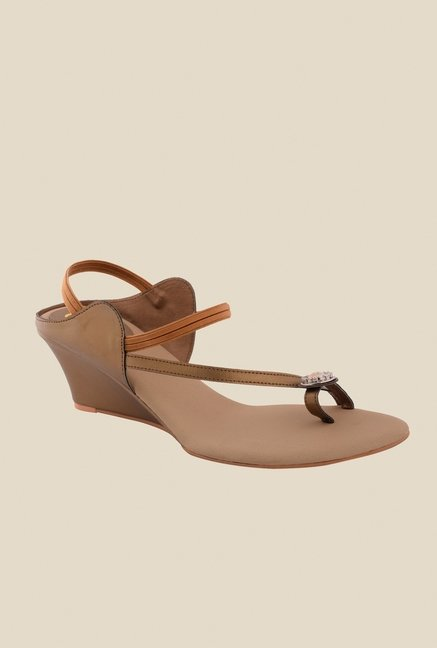 Cocoon Brown Sling Back Wedges