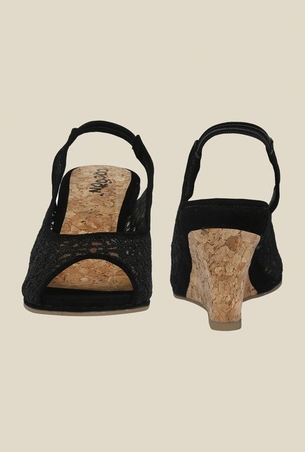 Cocoon Black Sling Back Wedges
