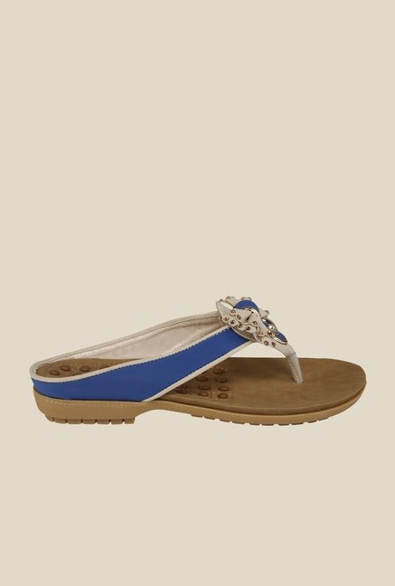 Cocoon Beige & Blue Thong Sandals