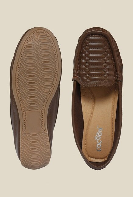 Cocoon Brown Wedge Heeled Loafers